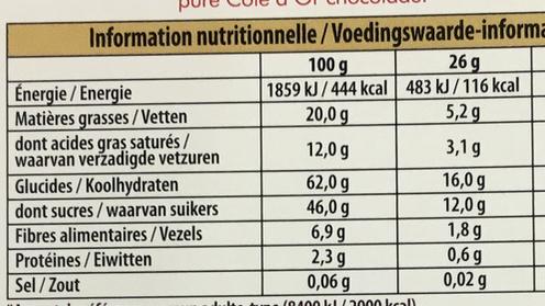 Fruit Passion Noir - Nutrition facts