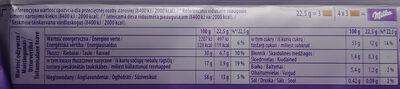 Czekolada mleczna z mleka alpejskiego z kremowym nadzieniem mlecznym. - Wartości odżywcze - pl
