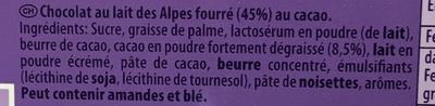 Dessert au Chocolat - Ingrédients