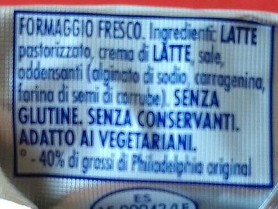 Philadelphia ligth - Ingredienti - it