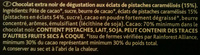 Pistache Noir 70% - Ingrediënten