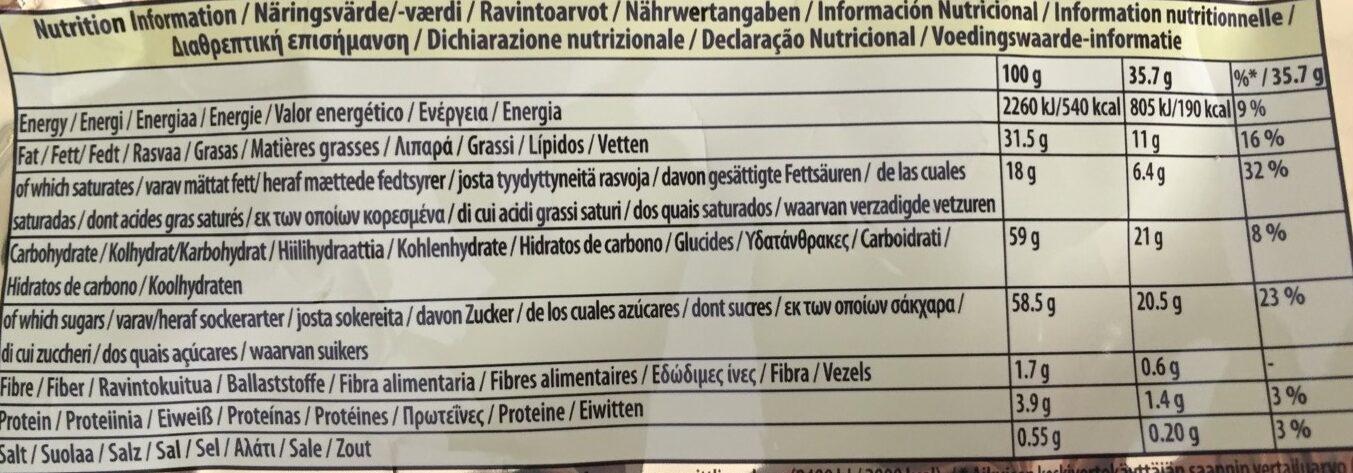Milch schokolade mit Daim - Nutrition facts - fr