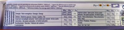Milka caramelo - Voedingswaarden - nl