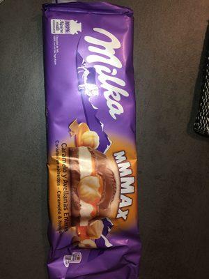 Milka Chocolat Au Lait Caramel Et Noisettes Entieres - Produkt