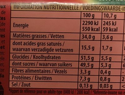 Big Nuts - Voedingswaarden