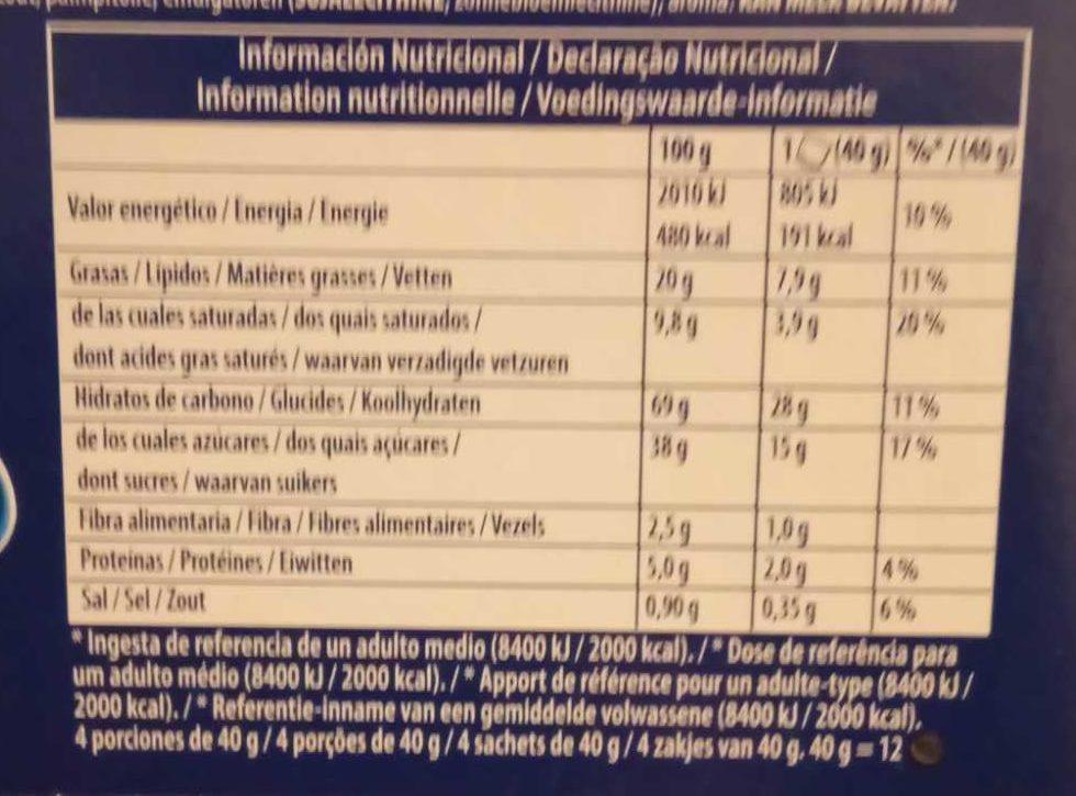 Mini Oreo - Información nutricional - es