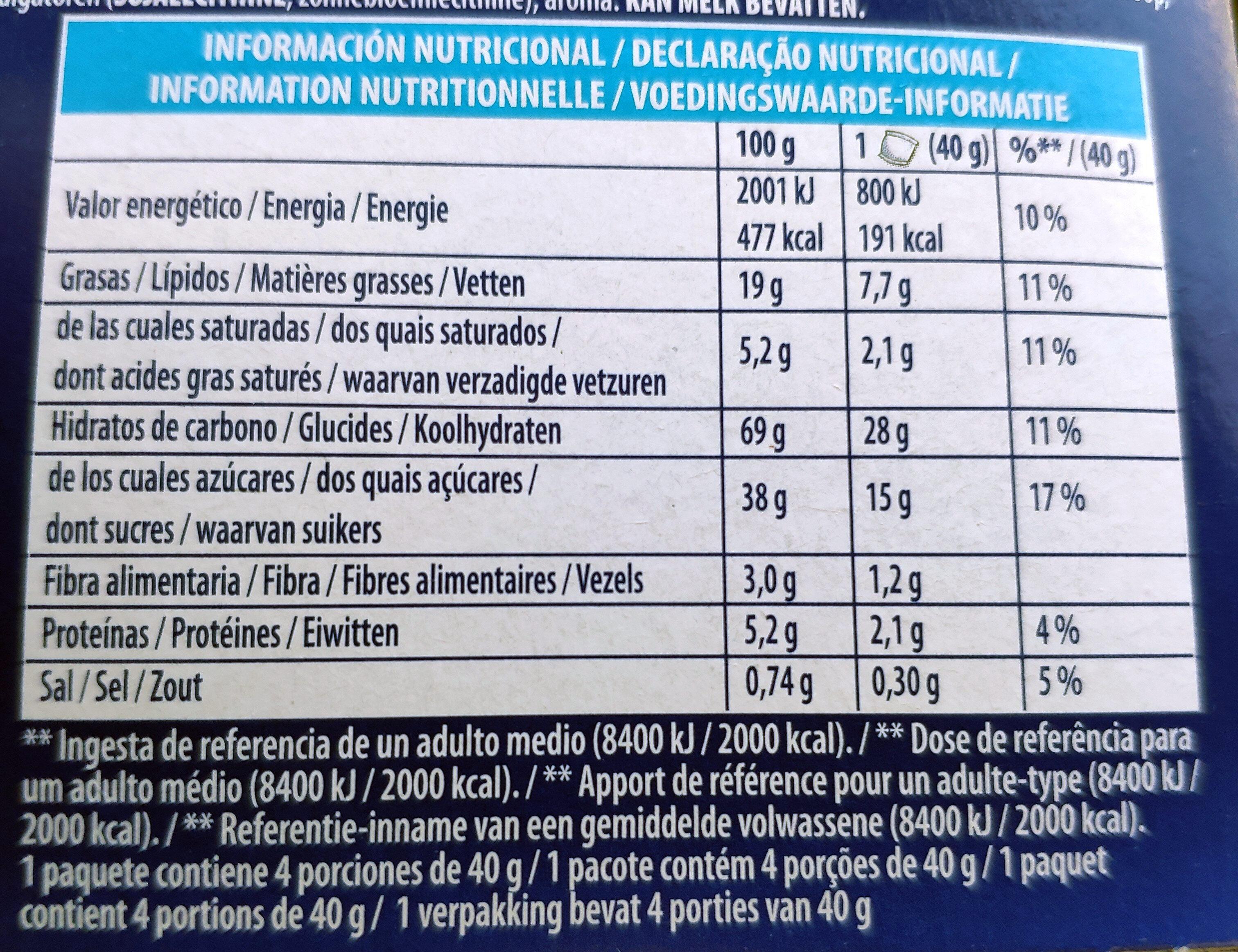 Mini Oreo - Nutrition facts - fr