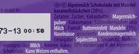 Milka & Daim - Ingrédients