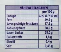 Milka Hase Alpenmilch - Informations nutritionnelles - de