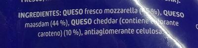 Especial pizza 3 quesos - Ingredients - es