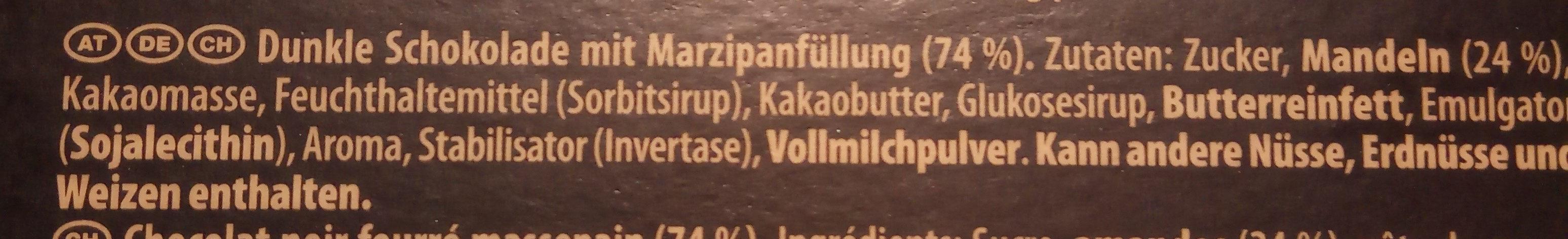 Suchard Finessa, Marzipan - Ingredienti - de