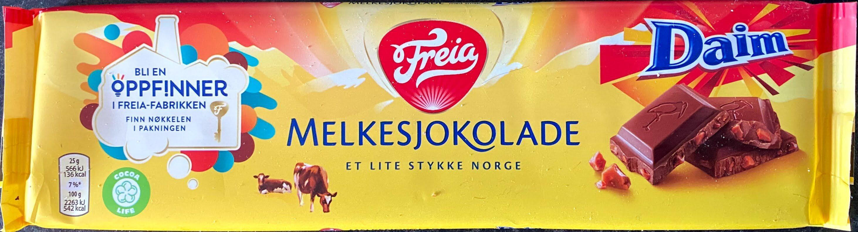 Freia Melkesjokolade med Daim - Product - nb