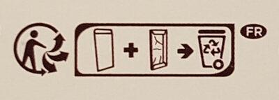 Pâte d'amande - Chocolat noir - Instruction de recyclage et/ou informations d'emballage - fr