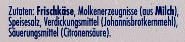 Philadelphia Doppelrahmstufe - Ingredients