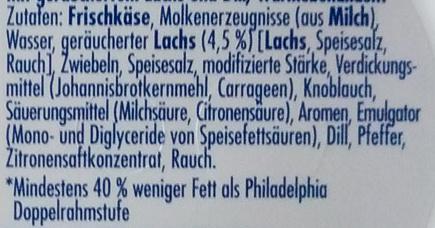 Philadelphia Räucherlachs mit Dill - Ingredients - de