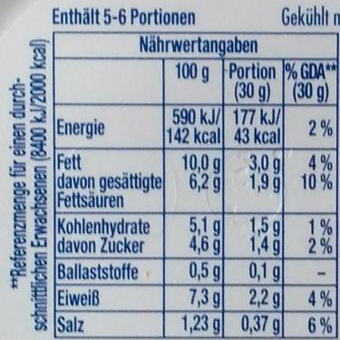 Philadelphia Räucherlachs mit Dill - Nutrition facts - de