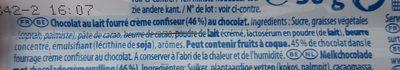 Côte d'Or Zero Lait - Ingrediënten - fr