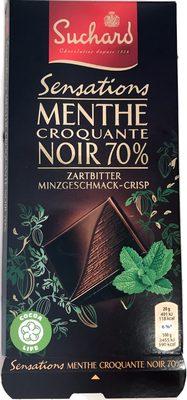 Zartbitter 70%, Minzgeschmack Crisp - Product
