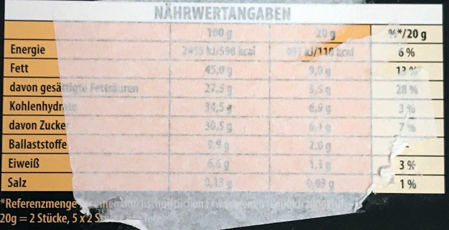 Zartbitter 70%, Minzgeschmack Crisp - Nutrition facts
