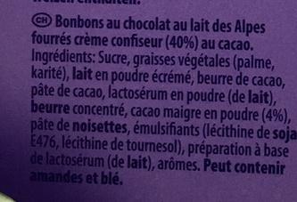 Alles Gute Pralinés à la dessert au chocolat - Ingrédients - fr