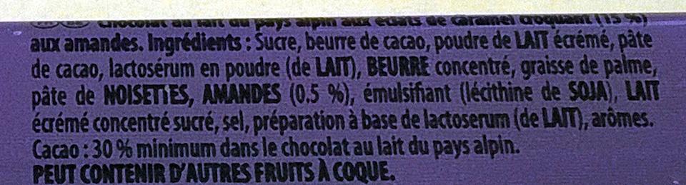 Milka & Daim - Ingrediënten - fr