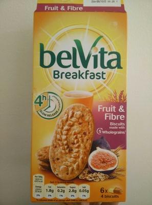 Belvita biscuits-breakfast fruit and fiber with fig - Product - en