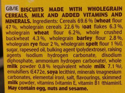 Belvita Milk And Cereal Biscuits 300G - Ingrediënten - en