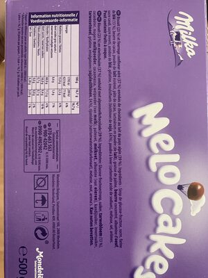 Melo Cakes - Nutrition facts - en