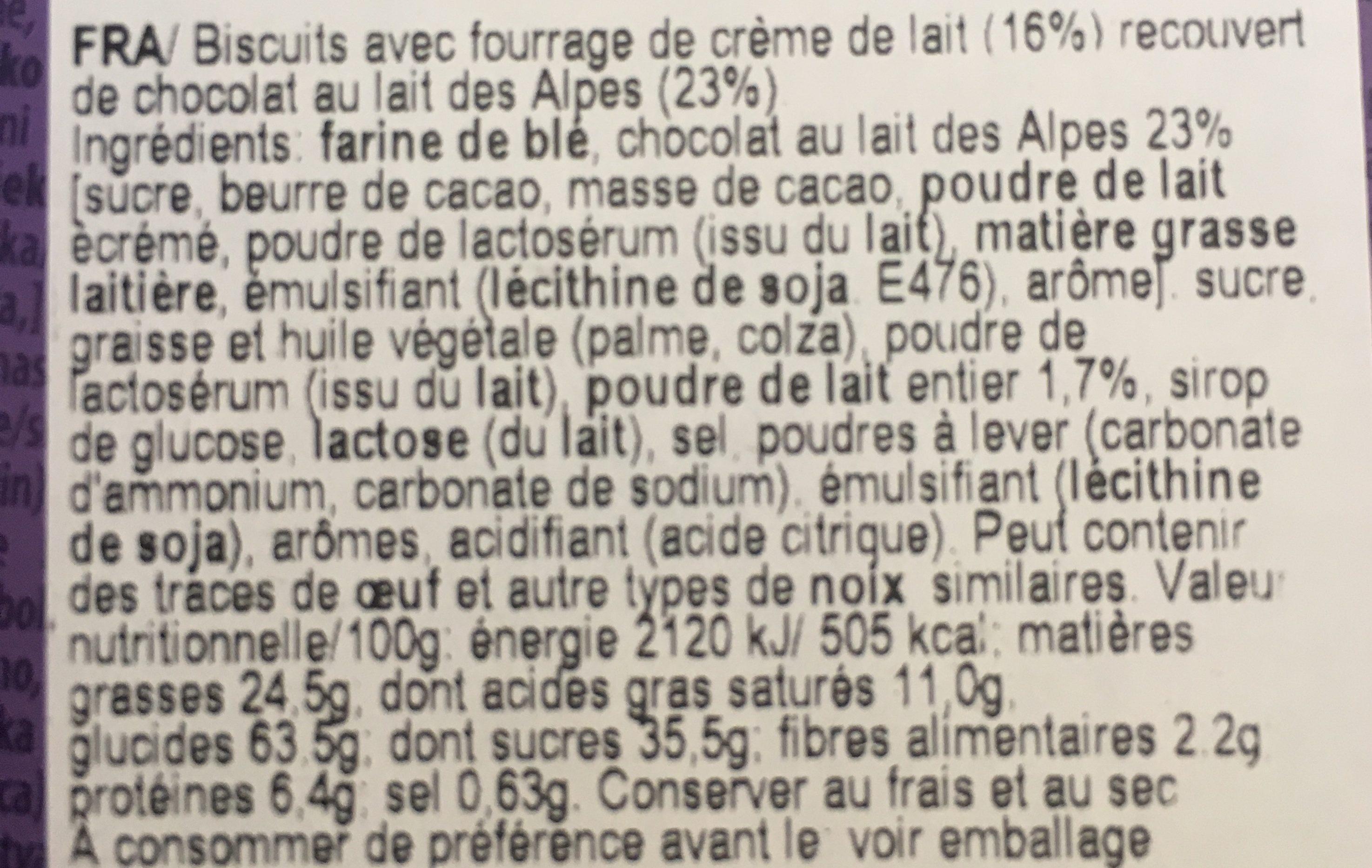 Choco minis - Ingrediënten - fr