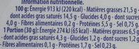 Philadelphia - Información nutricional - fr
