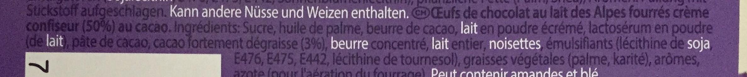 Löffel-Ei Kakaocrème - Ingrédients - fr