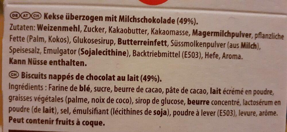 Glico Mikado Milch Schokolade - Ingrediënten - de