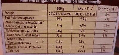 Glico Mikado Milch Schokolade - Voedingswaarden - de