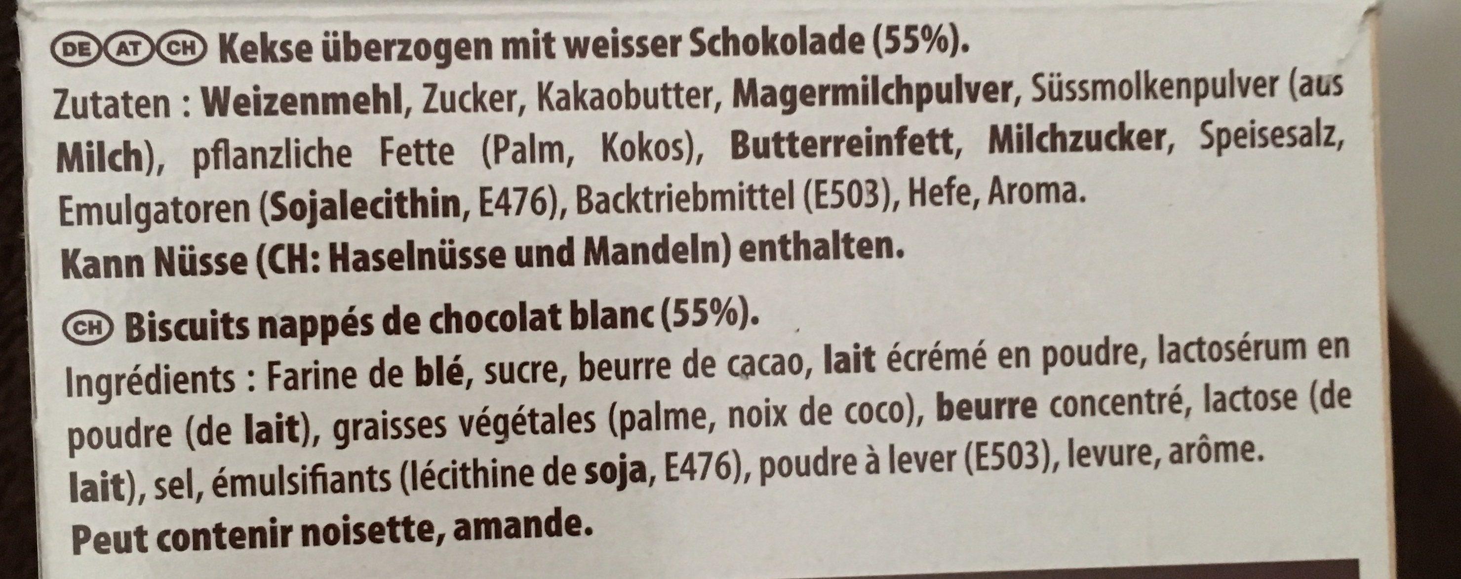Mikado Weiße Schokolade - Ingredients