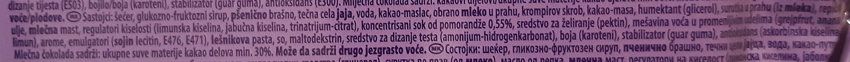 Orange jelly - Ingredients - sr