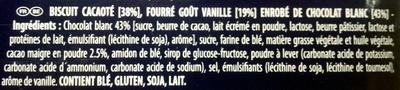White Choc - Ingredients