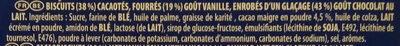 Oreo Milk Choc - Ingrédients - fr