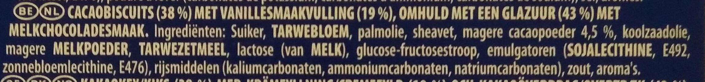 Milk Chocolate Covered Biscuits 6 Pack - Ingrediënten - nl