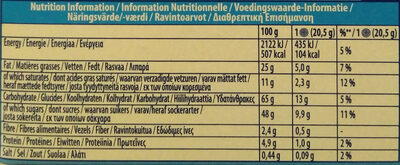 Oreo Enrobed - Nutrition facts - en