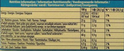 Oreo Enrobed - Voedingswaarden - nl