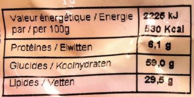 Oeufs de Pâques en chocolat au lait aux éclats de caramel croquant (10%) et amandes - Informations nutritionnelles