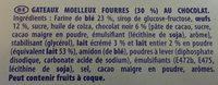 Lulu L'ourson - Ingrédients