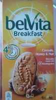 BelVita Breakfast - Cereals, Honey and Nut - Produit - ro