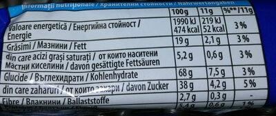 Oreo - Informations nutritionnelles - bg
