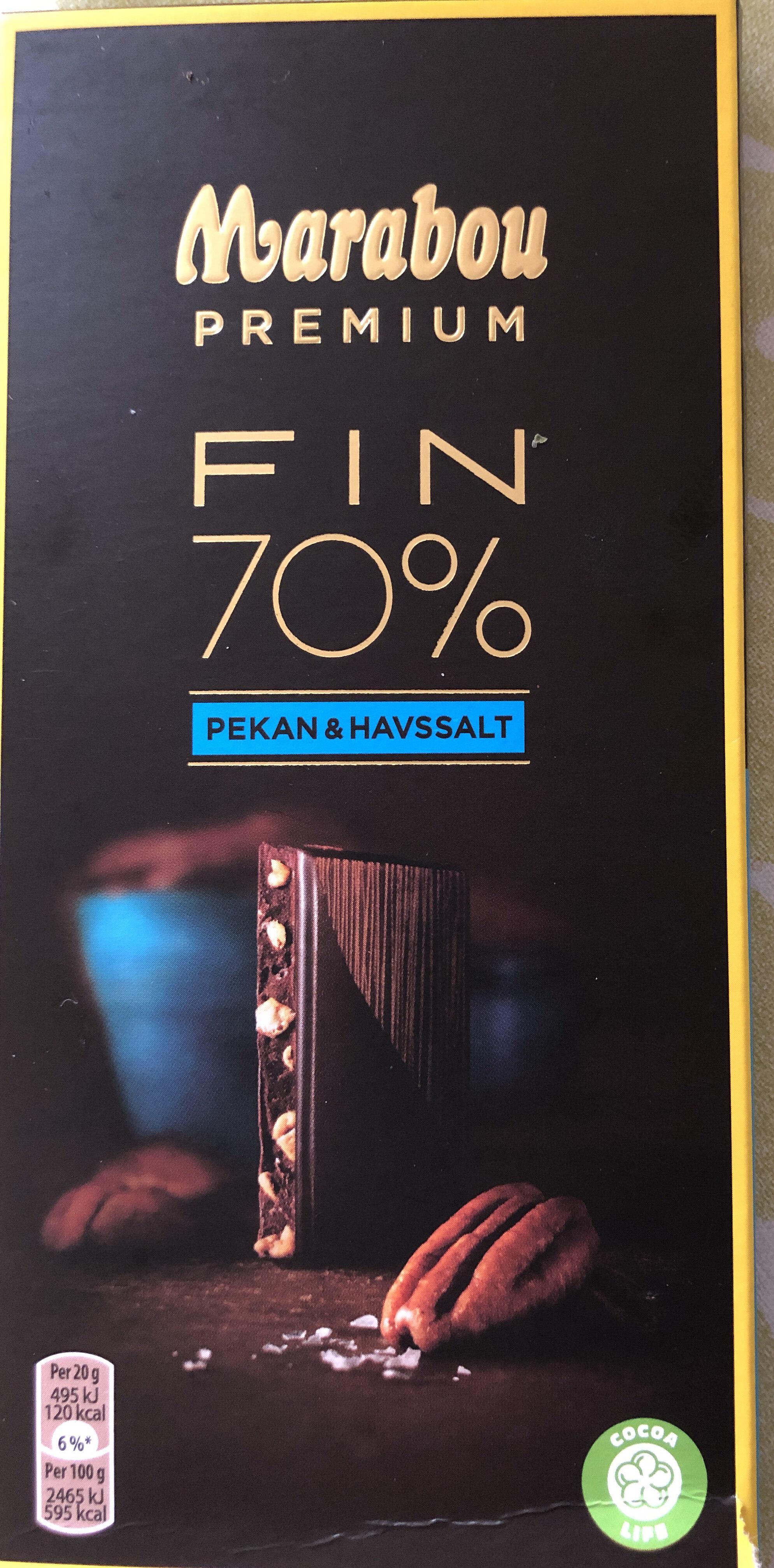 Marabou Premium 70 % Cocoa Pecan - Tuote - sv