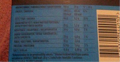 Marabou Premium 70 % Cocoa Pecan - Ravintosisältö - sv