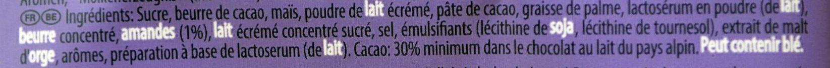 Milka Cornflakes Daim - Ingrédients - fr