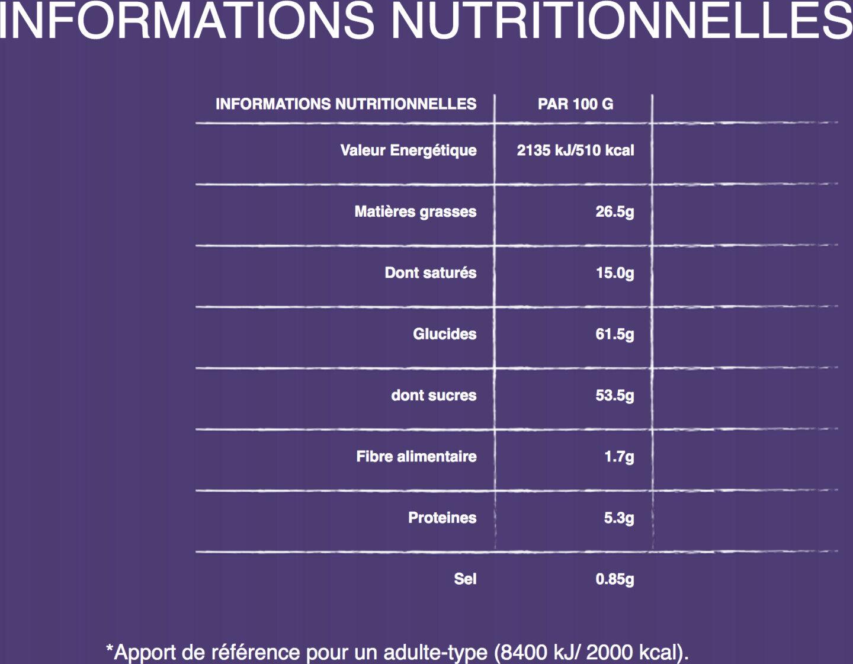 Milka Cornflakes Daim - Informations nutritionnelles - fr