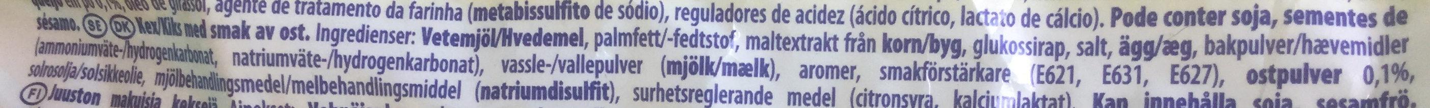 TUC Cheese flavour - Ingredienser - da