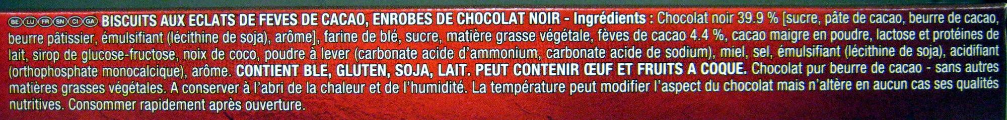 Palet intense Noir aux éclats de fèves de cacao - Ingrédients - fr
